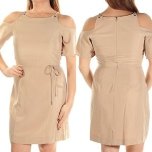 Bar III Cold Shoulder Nude Sheath Dress NWT